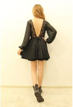 Open Back, Black, and Lace. Perfect.