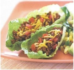 Turkey Meat Tacos. Use Romaine Lettuce Leaves Instead of Taco Shells. -Healthy food is yummy!