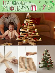 Christmas is always awaited everyone, not least kids. What is amazing from Christmas? A Christmas tree seems to be a Christmas decoration that must exist in every home Wooden Christmas Trees, Noel Christmas, Winter Christmas, Christmas Decorations, Christmas Ornaments, Wooden Tree, Chrismas Tree Diy, Tree Decorations, Natural Christmas