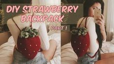DIY STRAWBERRY CROCHET BACKPACK PART Hey loves, Here is my tutorial for my little strawberry backpack, I hope you enjoy! Let me know if you have any questions. I used a hook and weight 4 acrylic yarn*** Here is the written out pattern: chain 4 Diy Crochet, Vintage Crochet, Crochet Crafts, Yarn Crafts, Crochet Projects, Diy Projects, Crochet Handbags, Crochet Purses, Crochet Bags