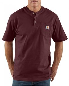 f0260b6b315 Carhartt® Men s Short Sleeve Workwear Henley - Tall Carhartt Shirts