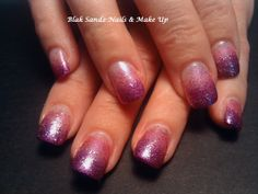 Creating a Fade with polish & glitter