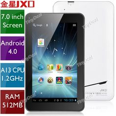 """(JXD) S6600 7"""" Capacitive Screen Android 4.0 Tablet PC w/ WiFi Camera (CPU A13 1.2GHz RAM 512MB HD 8GB) L-109271"""