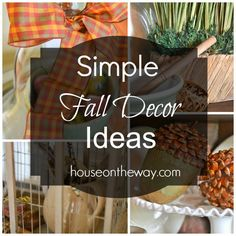 Simple Fall Decor Ideas from houseontheway.com