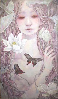 Miho Hirano - 朝露 M6 Oil on canvas