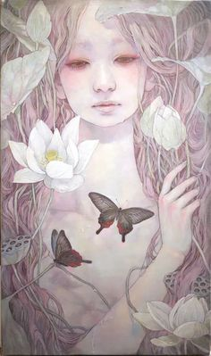 Miho Hirano - 朝露 M6 Oil on canvas