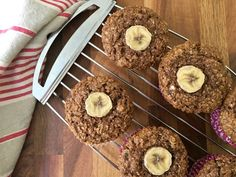 Banana Bran Muffins are refined sugar free - sweetened with molasses and mashed banana. They're moist, nicely textured and filled with healthy ingredients. Banana Bran Muffins, Pumpkin Banana Bread, Chocolate Chip Banana Bread, Molasses Recipes, Banana Recipes, Muffin Recipes, Sugar Free Baking, Healthy Muffins, Healthy Baking