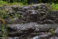 Artisans Have Carved The Story Of The Ramayana In Stone Along The Banks Of The Ayung River, Ubud, Bali, Indonesia.
