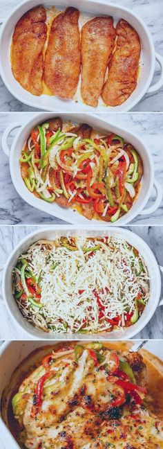 Fajita Chicken Casserole   Chicken & Pork Recipes   #Casserole #chicken #Fajita ... #casserole #chicken #keto #ketocasserole #recipes