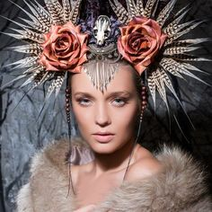 makeup elise hull - Google Search interesting head dress
