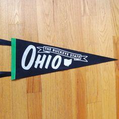 Steam Whistle Letterpress & Design Ohio pennant, $24 (Made in Cincinnati, Ohio)