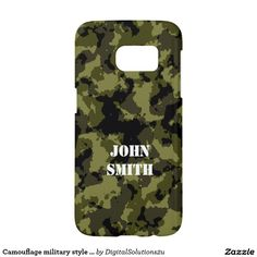 Camouflage military style pattern samsung galaxy s7 case