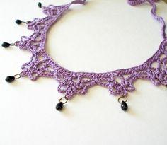 PDF Crochet Pattern Mina Harker Necklace by JeweledElegance