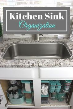 Beautiful under the sink organization ideas by At Home with Nikki
