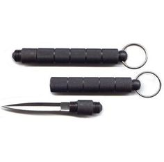 Kubaton 4 In. Black Keychain with Concealed Knife