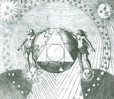 Geometrical depiction of the Pythagorean tetractys, based on the maxin of anonymous Arab alchemists, as handed down through the anthologies of the Turba philosophorum and the Rosarium since the 13th century in Europe. The inner circle represents the microcosmic One which , through the step of four, becomes the macrocosmic ten, which, in turn, as the quintessence of the alchemists, encompasses all other possibilities.  D. Stolcius von Stolcenberg, Viridarium chymicum, Frankfurt, 1624