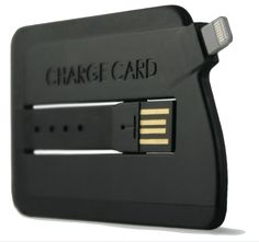 ChargeCard iPhone 5 Charger Fits in a Wallet