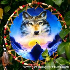 Native American Wolf Dreamcatcher Extra Large 3 Ring  Visit our store at www.spiritualgiftsireland.com  Follow Spiritual Gifts Ireland on www.facebook.com/spiritualgiftsireland www.instagram.com/spiritualgiftsireland www.etsy.com/shop/spiritualgiftireland  We are also featured on Tumblr