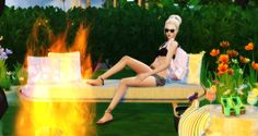 Summer Chill Pose In Game by Dreacia at My Fabulous Sims