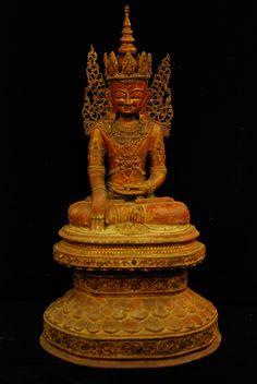 18C Lacquer Shan Burmese Buddha