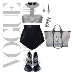 """""""Grey summer"""" by beverlyclm on Polyvore featuring Duskii, Aminah Abdul Jillil, Chanel, Kasun and Noir Jewelry"""