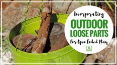 Providing open ended play materials in outdoor play is cost effective & allows children the opportunity to direct their own play. Find out how to get started simply & what to use - bonus printable factsheet available. Kids Outdoor Spaces, Outdoor Learning Spaces, Outdoor Play, Outside Games, Craft Activities For Kids, Outdoor Activities, What To Use, Outdoor Classroom, Forest School
