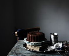 Not a chocolate cake fan. But a dark background can also bring out the luscious chocolately silky shine