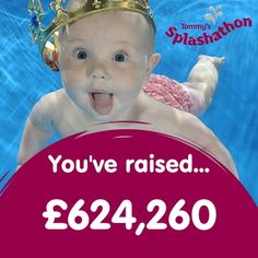 New total just in...Water Babies have raised £624,260 for Tommy's, the baby charity! #splashathon #waterbabiesuk #tommyscharity