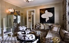 Are you a design-lover? What do you know about interior design in the US? CovetED wants to share with you design portfolio of Kelly Wearstler. Kelly Wearstler, Interior Inspiration, Design Inspiration, Design Ideas, Design Projects, Design Trends, Rug Texture, Lounge, Bedroom Black