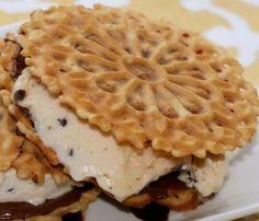 Pizzelle Suntella Ice Cream Sandwiches – YUM! (gluten, dairy, nut, corn, soy FREE) Fast Metabolism Diet, Metabolic Diet, Gluten Free Desserts, Free Food, Dairy Free, Waffles, Sandwiches, Ice Cream, Breakfast