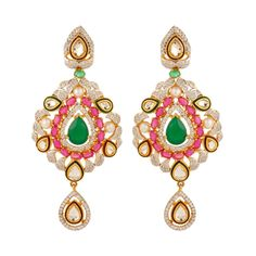 Knowledge collection multicolour gold plated earrings for women dilan jewels