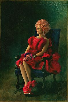 Effie Trinket Capitol Portrait for The Hunger Games: Catching Fire #mcqueen