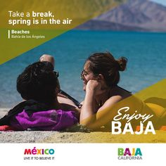 Take a break, spring is in the air! This is what #Baja is all about  www.discoverbajacalifornia.com #Spring #Baja #DiscoverBaja #EnjoyBaja #DisfrutaBC #Amigos #Friends #Playa #Beach #Mar #Sea #Vacaciones #Mexico #BajaMexico #ILoveBaja