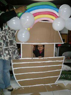 clase de cuna, arca de Noé de cartón, materiales para escuela sabatica