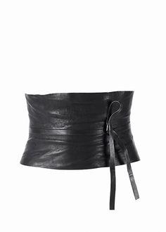 Crushed Leather Obi Belt | Lafayette 148 NY