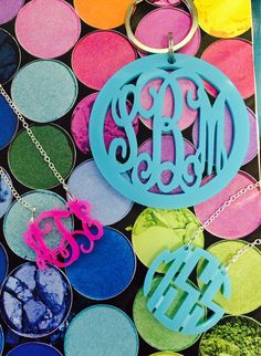 BEST source for acrylic monogrammed items! Click photo to shop Frill Seekers website!