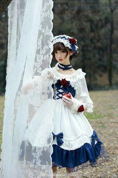 Harajuku Fashion, Lolita Fashion, Dark Fashion, Asian Fashion, Fashion Themes, Fashion Dresses, Gaun Dress, Mode Lolita, Estilo Lolita
