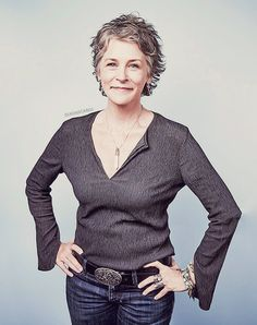 Melissa McBride kicks all kinds of butt. Walking Dead Tv Series, The Walking Dead Tv, Daryl And Carol, Lady In My Life, Melissa Mcbride, Going Gray, Mode Style, Short Hair Styles, Female