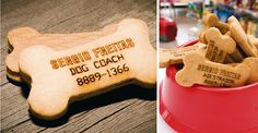 Dog bone business cards- for man's best friend