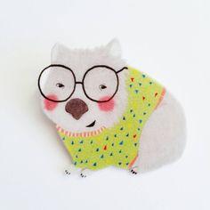 Wombat magnet // Illustrated magnet // shrink plastic // Fridge Magnet // wombat decor // fun kitchen accessories