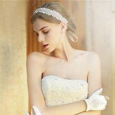 strass artesanal de cristal headpiece bridal cabelo casamento acessórios / headbands ocasião especial - BRL R$ 136,77