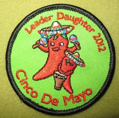 Girl Scout Middle Tennessee  100th Anniversary year Cinco de Mayo patch. Leader Daughter 2012. Thank you Sue!