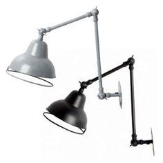house doctor - wandlampe vintage Study Lamps, Industrial Style, Light Up, Lamp, Light, Vintage House, House Doctor, Lighting, Lights