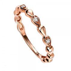9ct Rose Gold Diamond Set Beaded Ring #diamonds #diamondrings #engagementring #love #wedding #fashion #style #jewellery