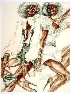 carole labrie ink Fashion Illustrator Antonio Lopez Featured in New Exhibition