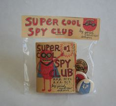 Super Cool Spy Club Kit (Zine/Book, Buttons, etc.) by supercoolspyclub on Etsy Art Zine, Spy Party, Packaging, Handmade Books, Book Making, Art Plastique, Bookbinding, Book Design, Book Art