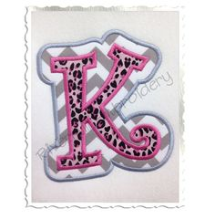 Double Applique Curlz Machine Embroidery by RivermillEmbroidery, $4.95