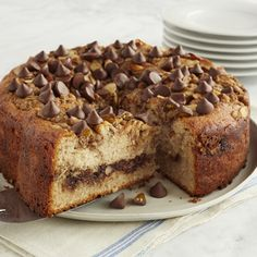 Almond Streusel Coffee Cake with Caramel Filled DelightFulls™