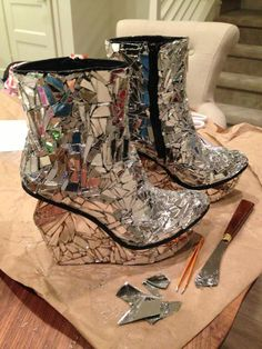 T a h e r e h M a f i - the evolution of the SHATTER ME shoes! i made...