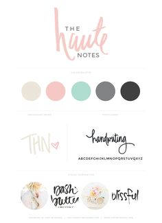 the haute notes | branding by kory woodard